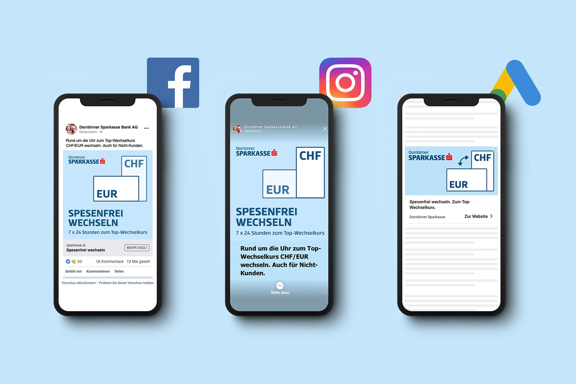 Medienkanäle Facebook, Instagram und Google Ads – von Bernhard Hafele