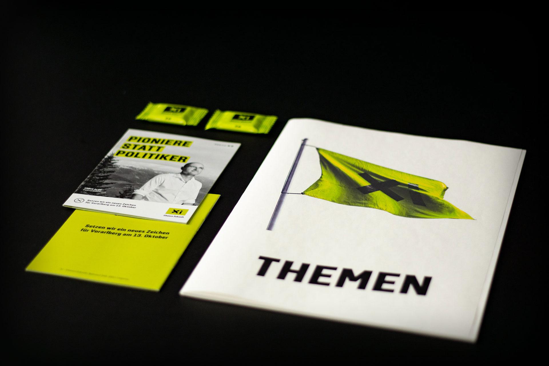 Corporate Design der Partei Xi – Chance Zukunft – von Bernhard Hafele
