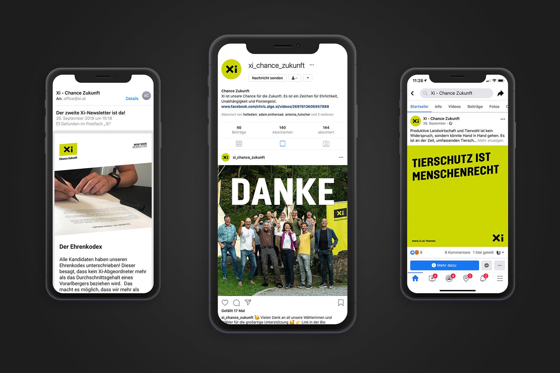 Facebook, Instagram und Newsletter als Teil der Online-Kommunikation – von Bernhard Hafele