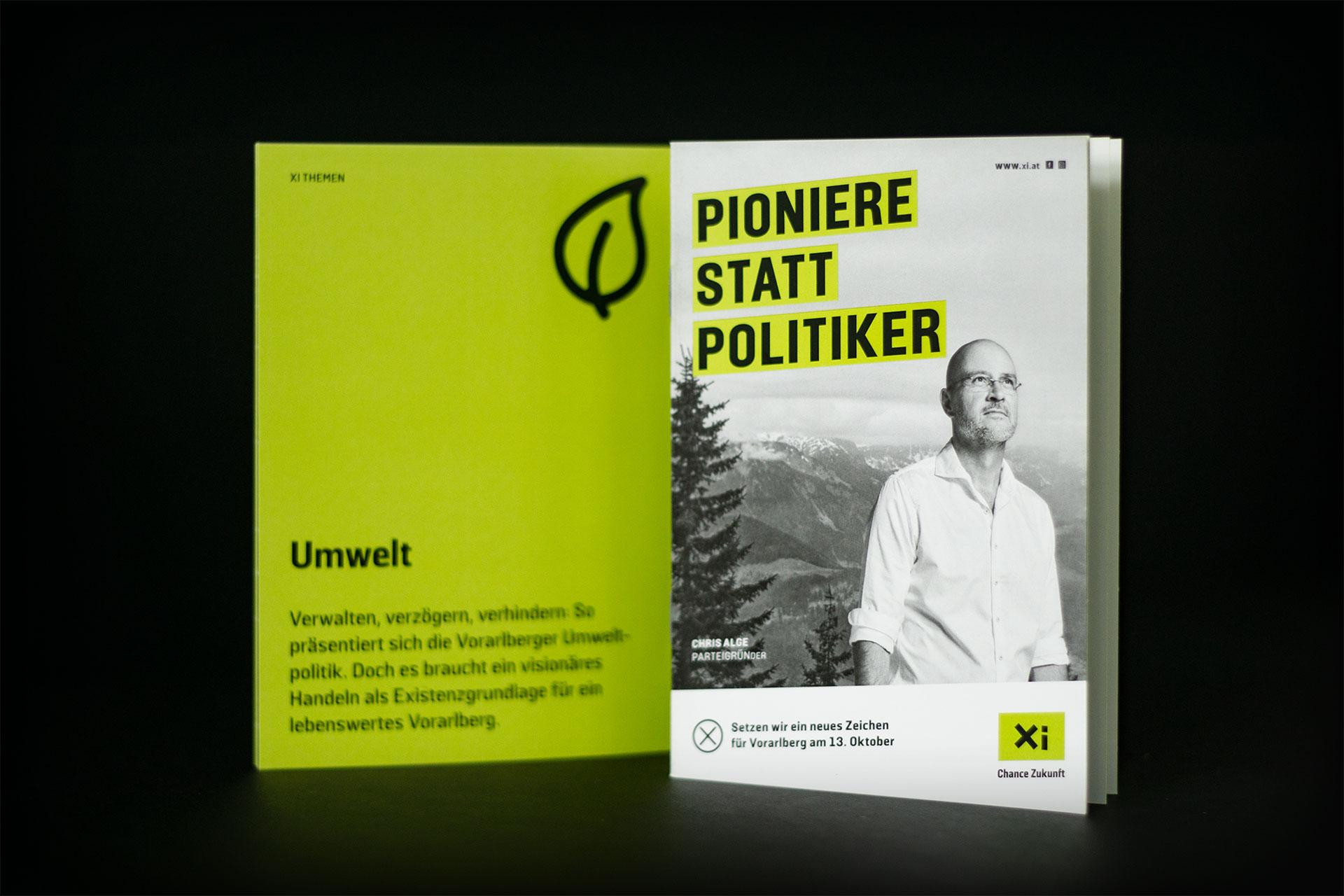 Broschüre der Partei Xi – Chance Zukunft – von Bernhard Hafele