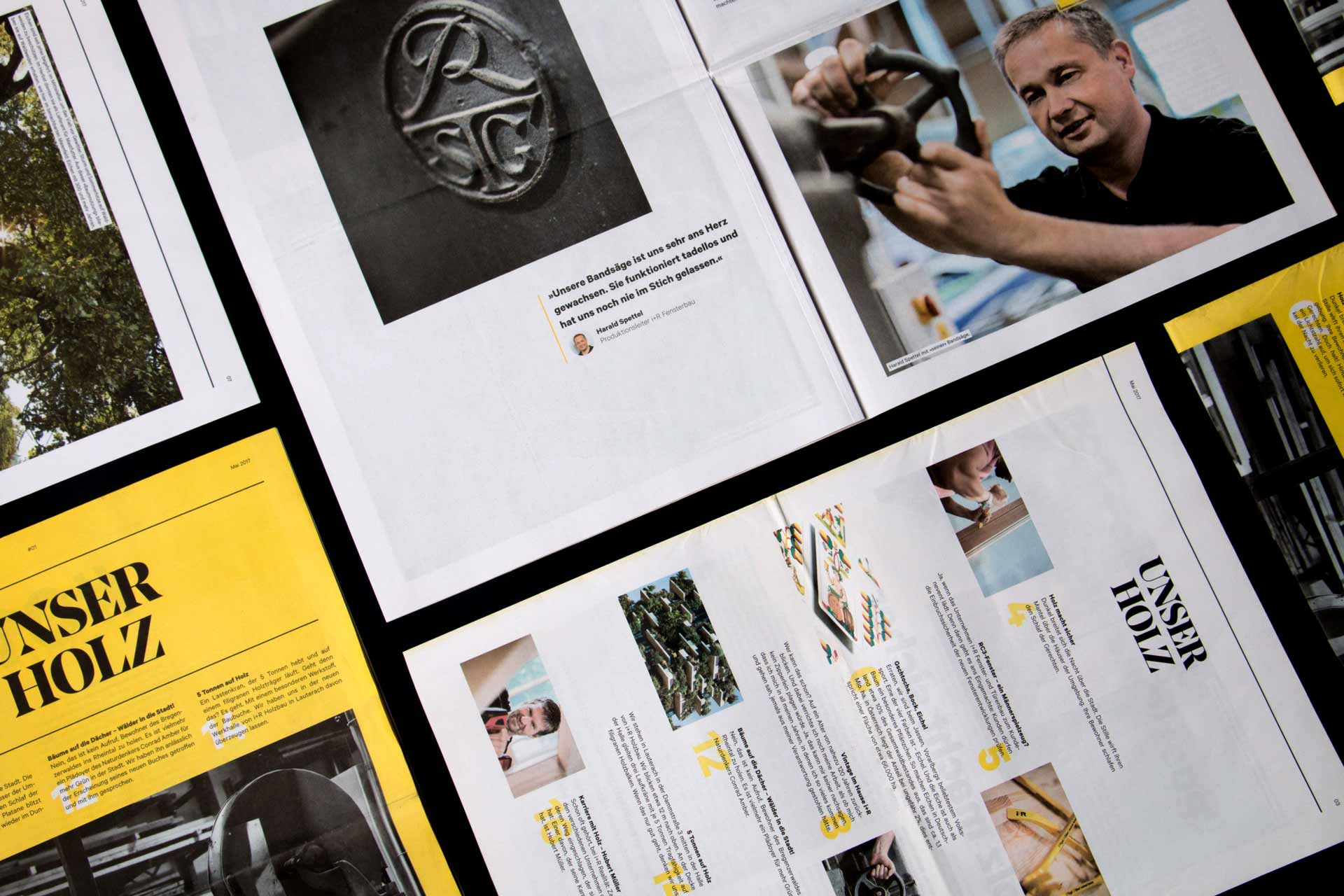 Unser Holz, i+R, Zeitung, Website, Storytelling, Editorial Design, Webdesign, Bernhard Hafele