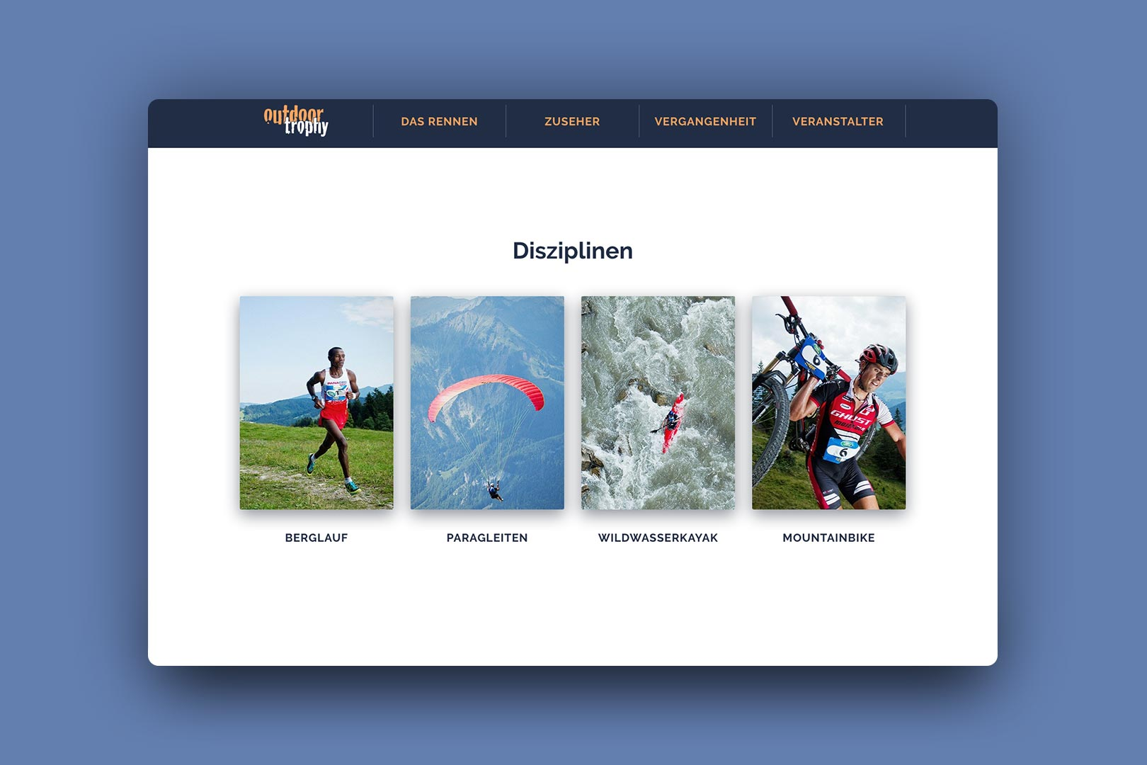 Disziplinen, Website, outdoortrophy, Bernhard Hafele