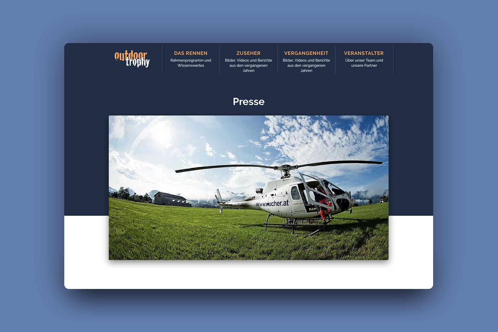 Presse, Website, outdoortrophy, Bernhard Hafele