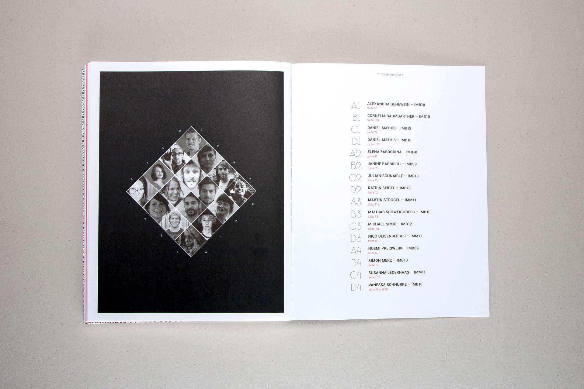 Plattform für den Studiengang InterMedia, FH Vorarlberg, Editorial Design, Webdesign, Konzeption, Grafikdesign, Magazin, Bernhard Hafele